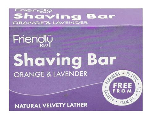 FriendlySOAP Rasierseife Orange & Lavendel